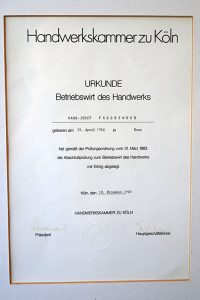 Meisterbrief 1985