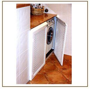 Waschmaschinen-Verkleidung offen