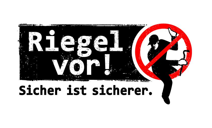 """Wir fördern die Inhalte der Einbruchschutz-Kampagne """"Riegel vor! Sicher ist sicherer."""" der Polizei NRW."""